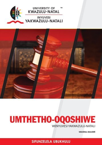 to download the UKZN STATUTE - isiZulu Version