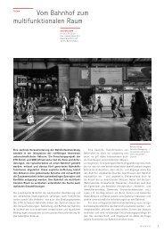 Vom Bahnhof zum multifunktionalen Raum (pdf) - Basler & Hofmann