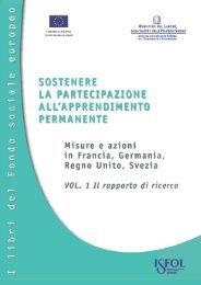 I libri del Fondo sociale europeo ISFOL SOSTENERE LA ...