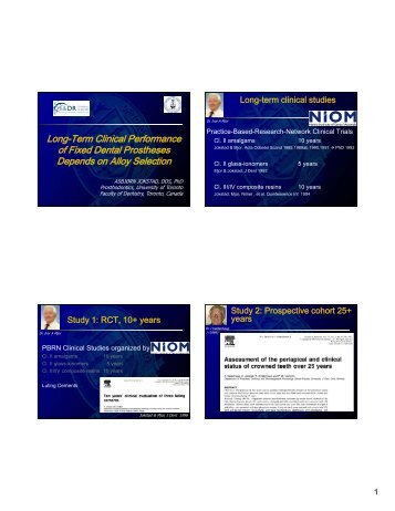 Long-Term Clinical Performance of Fixed Dental Prostheses of ...