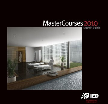 Master courses Brochure(PDF File) - IED - Fashion schools and ...
