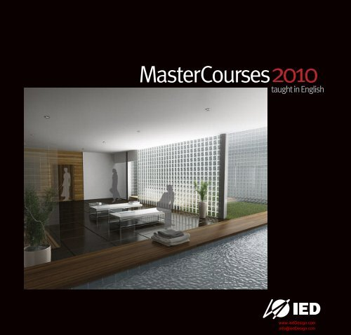 Master Courses Brochure Pdf File Ied Fashion Schools And