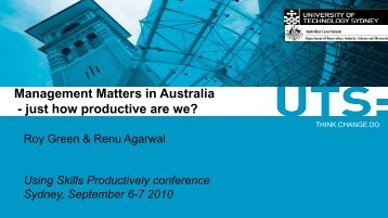 Management Matters in Australia - just how productive are ... - AWPA