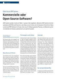 Kommerzielle oder Open-Source-Software? - niclaw