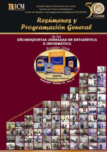 Centro de Estudios e Investigaciones Estadísticas ICM – ESPOL