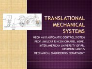 TRANSLATIONAL MECHANICAL SYSTEMS