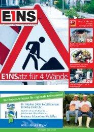 01. Oktober `09 (PDF) - E1NS-Magazin