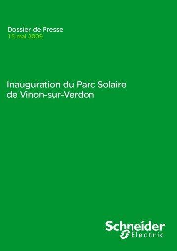 Inauguration du Parc Solaire de Vinon-sur-Verdon - Schneider Electric