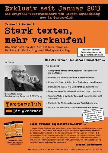 Stark texten, mehr verkaufen! - Texterclub