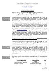 College Credit Information (pdf) - UCLA Center for Prehospital Care