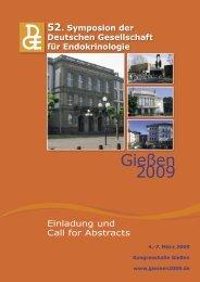 Gießen 2009 - 52. Symposion der Deutschen Gesellschaft für ...