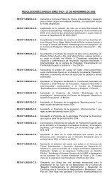 resoluciones consejo directivo – 27 de noviembre de 2003