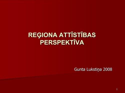 reģiona attīstības perspektīva - Rīgas Plānošanas Reģions