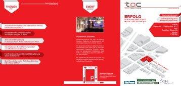 Inhalte und Anmeldeinfo [PDF, 1.4MB] - TOC Tecno Office Consult