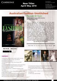 Australian Fashion Unstitched - Cambridge University Press