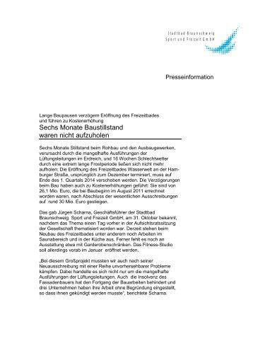 Stadtbad Braunschweig Sport und Freizeit GmbH ... - Wasserwelt