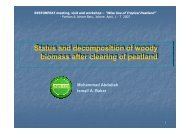 Status and decomposition of woody biomass after clearing ... - SPLU.nl