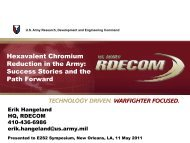 Hexavalent Chromium Reduction in the Army: Success ... - E2S2