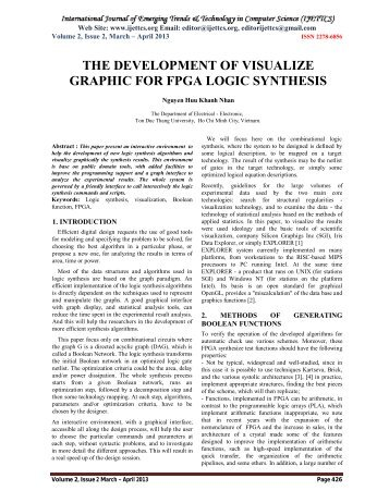 the development of visualize graphic for fpga logic synthesis