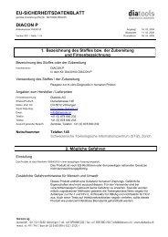 EU-SICHERHEITSDATENBLATT DIACON P - diatools AG