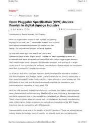 (OPS) devices flourish in digital signage industry - NEC Display ...