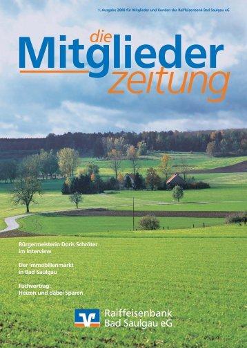 Mitglieder - Raiffeisenbank Bad Saulgau eG