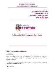 Training e-Portfolio Guide Assessor / Educational Supervisor