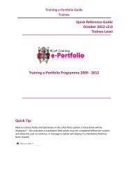 Training e-Portfolio Guide Trainee