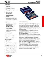 Datasheet analog servoamplifier 503