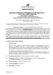 Résumé Prospectus visa 11-292 DU 05 07 2011 - Crédit Agricole ...