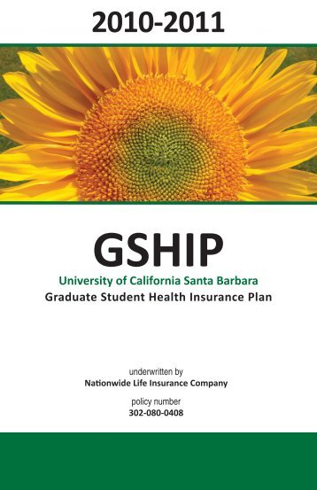 University of California Santa Barbara Graduate Student Health ...