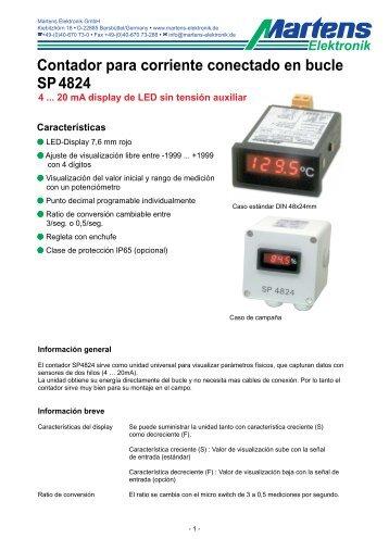 SP4824-00- Prospekt - Martens Elektronik GmbH