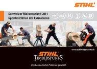 Flyer 2011 - STIHL-Timbersports