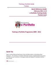 Training e-Portfolio Guide Trainee - The Royal College of ...
