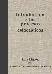 Introducci´on a los procesos estoc´asticos - Departamento de ...