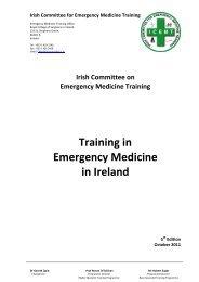 Irish Committee On Emergency Medicine Training - Royal College of ...