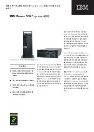 IBM Power 550 Express 서버