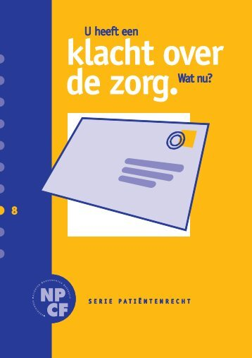 Klachtrecht van clienten (folder NPCF) - NVVP
