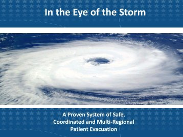 In the Eye of the Storm - The 2012 Integrated Medical, Public Health ...