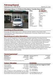 Fahrzeug-Exposé - Autohaus Gerstenmaier
