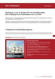 Best of Shipping III - Lloyd Fonds AG