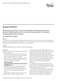 RESEARCH REPORTS Measuring outcomes in learning disability ...