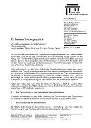 Tagungsbericht 23. Berliner Steuergespräch