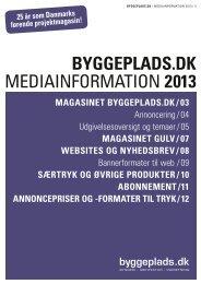 Download pdf af Byggeplads.dk mediainformation 2013 på dansk.