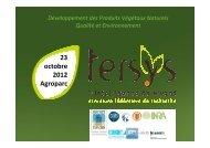 Tersys Structure fédératice de recherche - Chambres d'Agriculture ...