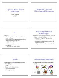Agenda Fundamental Concepts in Object-Oriented ... - SOI