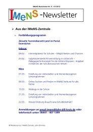 Newsletter Nr. 06 01/2012 - IMeNS - Lahn-Dill-Kreis