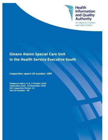 Gleann Alainn Special Care Unit in the Health Service ... - hiqa.ie