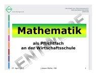 Mathematik als Pflichtfach - Reischlesche Wirtschaftsschule Augsburg