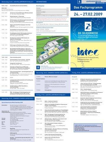 Das Fachprogramm 24. - Leipziger Messe